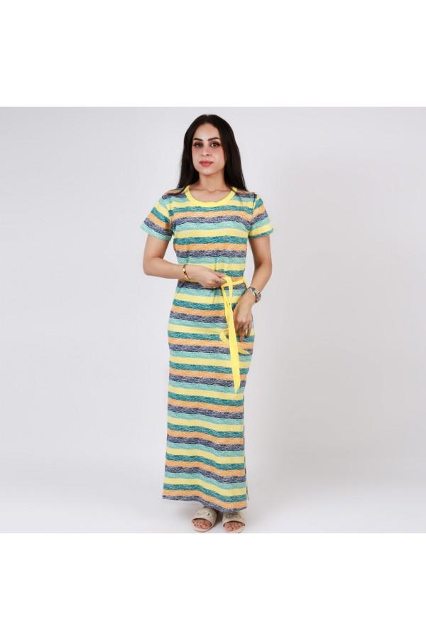 قميص طويل  بفتحة جانبية متعدد الألوان