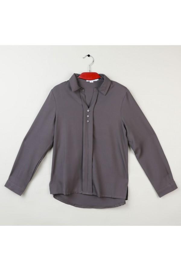 قميص رسمي ساده بأكمام طويلة