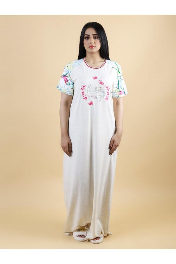 قميص طويل بأكمام قصيرة و طبعات