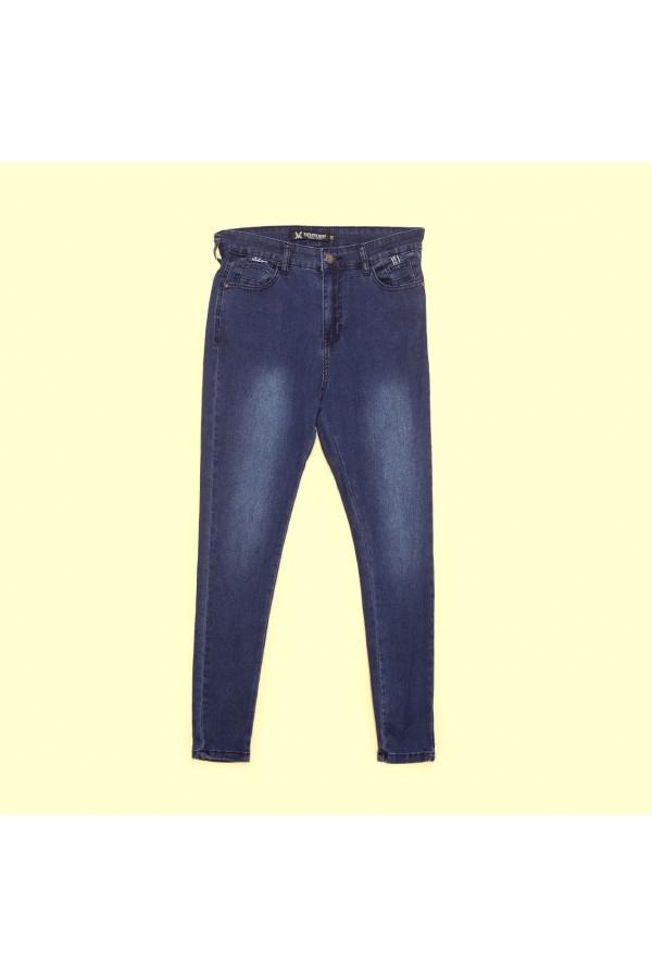 بنطلون جينز طويل بيجوب و ازرار إغلاق