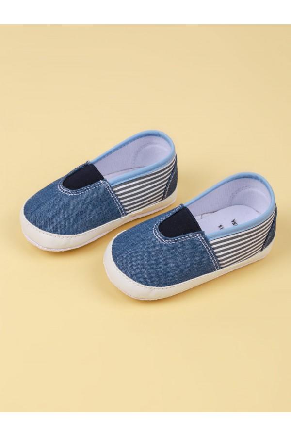 حذاء مواليد بطبعات مخططة