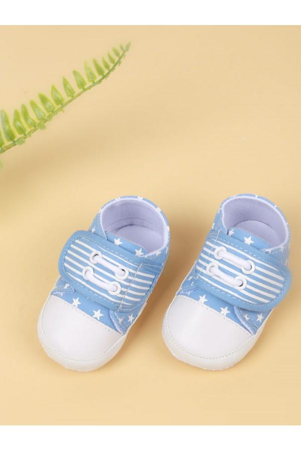حذاء مواليد مزين بطبعت نجوم