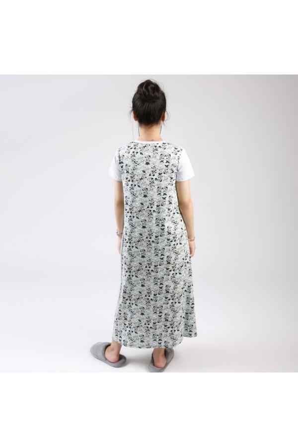 قميص طويل  بطبعات ميكي ماوس