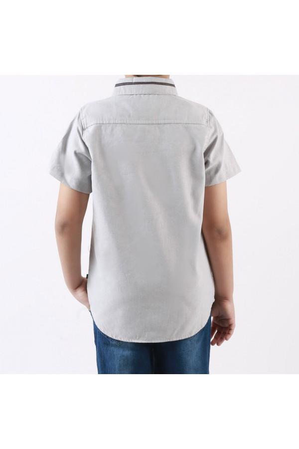 قميص بأزرار إغلاق مع شورت