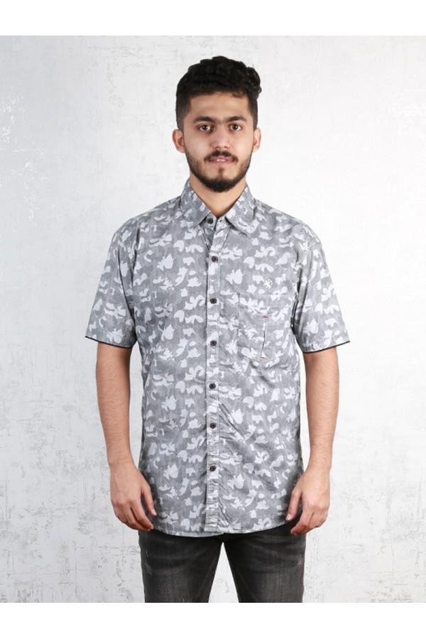 قميص مزين بطبعات باكمام قصيرة
