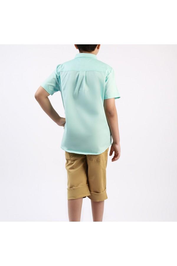 طقم شورت وقميص باكمام قصيرة