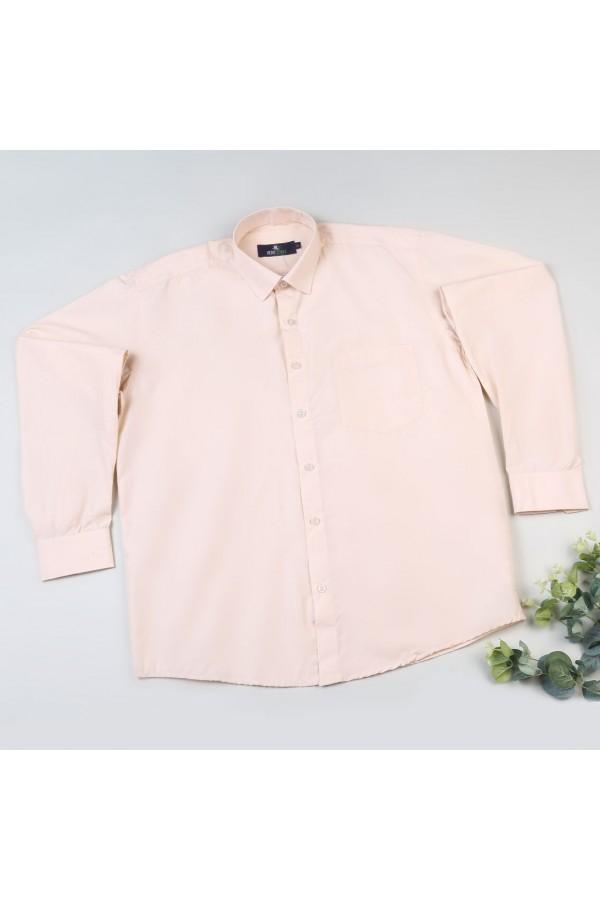 قميص  بياقة عاديّة وأكمام طويلة