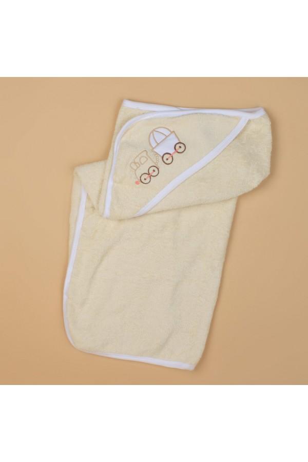 منشفة حمّام بقبعة مزينة بطبعات