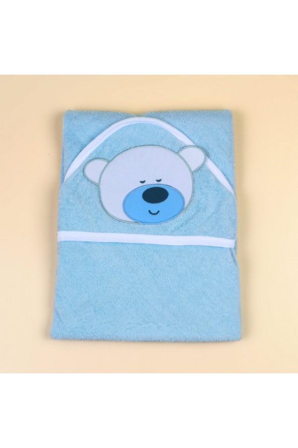 منشفة حمّام بقبعة وطبعات دب