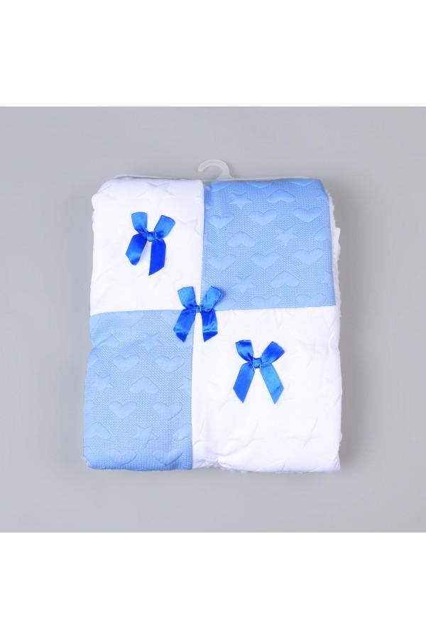بطانية أطفال متعددة الألوان بتفاصيل فيونكة